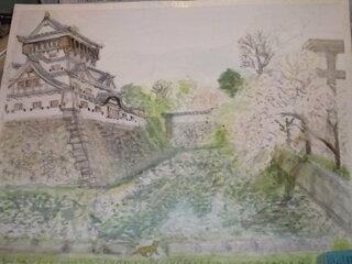 こういうのはいかがでしょうか。 桜と城です。 それではさようなら。 追伸 せっかく載せたのによう!...