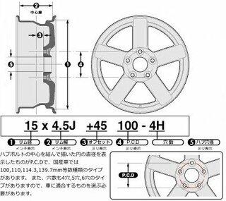 >H19年式(2007年)のダイハツムーヴLのタイヤのpcdはいくつですか...