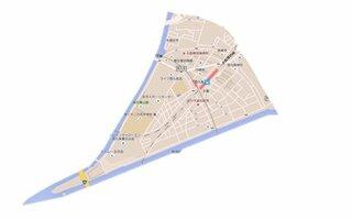 グーグルマップで 大阪府大阪市此花区西九条 と検索しますと 西九条の地域が赤く示されて出てきます。...