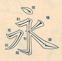 勒書道の中での意味 - 「勒(ロク)」は永字八法の一つで、「永」の字の ...