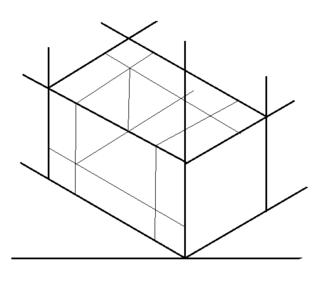 下の方から描いた方がよいと思います。  ① 下方に水平線を引きます。 ②...
