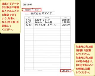 金 0 円 化 給付 持続 売上 台帳