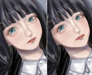 目が顔の外側に寄りすぎています。だからといって目を中央に寄せると、今度は目と目の間が狭くなってしまいます。だから目...