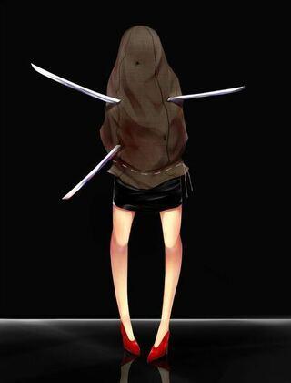少し違うかも知れませんが2006年のオムニバス形式のホラー映画「コワイ女」中の「鋼」に似てる気がします。