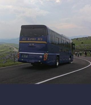こちらの回答では無いですが、四国カルストは高知側の東津野城川林道から大型バスでも余裕ですよ。
