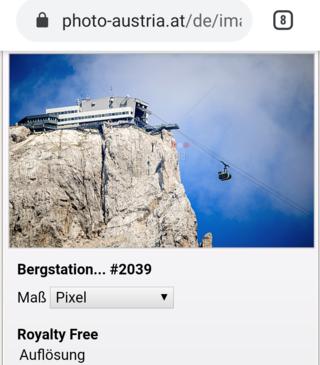 オーストリアのダッハシュタイン山塊にあるクリッペンシュタイン山の頂上にあるロープウェイの駅です。駅名は「Bergs...