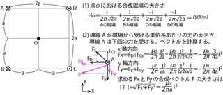 図は距離と電流方向がみずらかったので添付した図のように解釈しました。...