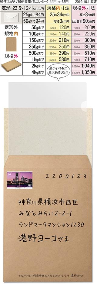 封筒 a4 切手 サイズ