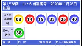 当選 ロト 発表 6
