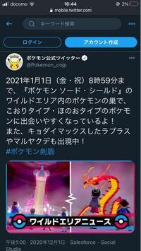 ポケモン 剣盾 ワイルドエリアニュース