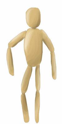 デッサンをするときに使う、関節が動く人形(画像参照)について 私は、画像のような、デッサンをするときに使う、関節が動く人形が欲しいです。 でも、ネットで探しても、それがなんというのか分からないので 検...