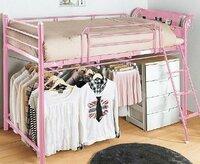 ロフトベッドの購入について迷っています。 部屋をすっきりさせたいので、ロフトベッドを購入しようかと 思っています。 今のところ候補にあがっているのが、ニッセンさんの 少し低めのベッドです。 高さが13...