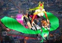 「ナウシカ乗り で飛ぼう」シリーズ第二弾、 「初音ミク型・無人機に、乗ってみよう」の 画です。どげんですか。 ナウシカ乗り したら良い物は何ですか。