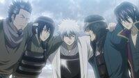銀魂の攘夷戦争時代、銀さん+高杉+坂本+桂と一緒に戦っていたという謎の5人目(黒子野)。 彼は左端の人物から描き起こされるのでは?