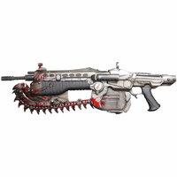 ゲームやアニメの中に登場する武器で一番あなたが好きなものを教えてください。 剣や斧や刀などの近接武器でもいいし、  銃や弓なんかなんでもOKです。  実際に存在するものでもいいです。  実際に存在するものをあげる場合はどのゲームやアニメで好きになったか、理由もおしえてください。  できれば画像お願いします!!  自分はGears of war というXBOX360のシュー...