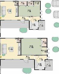 新築の間取りがほぼ決まってきました。が、独立した和室の大きさ・収納の位置などで2つのどちらにしようか迷っています。 家は東道路・東玄関で、南側には庭があります。 添付した図は、玄関・和室・その隣のリ...