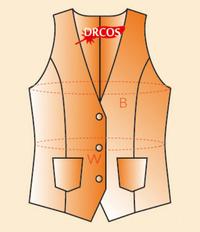 裏地ありでこのような簡易ベストを作ります。  (女性用Mサイズです)   布は大体 122cm×何cm 必要ですか?