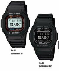 G-SHOCK(ジーショック)の腕時計の購入を考えているのですが画像の二つの色で迷っています。 品番は GW-M5610-1JF(左)  GW-M5610-1BJF (右) どちらの方がかっこいいでしょうか? アドバイスよろしくお願いします。