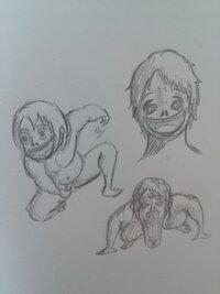 漫画家志望です。進撃の巨人の巨人を描いてみました。評価お願いします。
