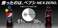 「ペプシNEX ZERO」と「コカ・コーラ ゼロ」の比較CMって日本でOKなんですか? 日本では比較広告を出すときは、他社は「A社」「B社」のような感じだったと思いますが、 サントリーのペプシNEX ZERO のCM「美味しさ」篇 をテレビで見て、ビックリしました。  日本で、他社の名前を出して比較広告を流してもOKなのでしょうか??   <検索用> サントリー サ...