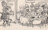 ビゴーの列強クラブの仲間入りの風刺画は、日本が日清戦争勝利後、当時の帝国主義列強のイギリス、フランス、ドイツ、イタリア、オーストリア、ロシア、トルコに次いで列強の仲間入りを 果たす場面が風刺されてい...