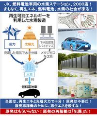 『トヨタ、CO2ゼロで水素製造へ! 燃料電池車向け』2015/1/1  ⇒ 未来の姿が見える? 再生エネと水素で、「CO2フリー」「化石燃料フリー」の人類の夢の世界が見える? いつ頃、実現する?  ⇒ もう、...