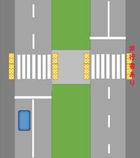 信号機のない横断歩道で・・ 渡ろうとする歩行者のいる場合には、一時停止しないといけません。 もし・・ 広い中央分離帯のある道路で、反対車線側の横断歩道に歩行者がいる場合にも止まらないといけませんか?...