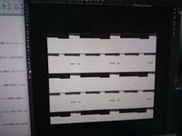 Photoshopがバグります。このせいで単位落としそうです。 写真のようになります。 白背景ができません。ブラシ直塗り、塗りつぶしツール、別レイヤー、作り直しすべて試しました。 学校に強制購入させられた挙げ句GIMPよりもバグ多いこのソフトもういやです(泣)