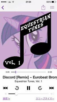 Discord (Remix) - Eurobeat Brony製作者:The Living Tombstoneリン これってpodcastにあったんですが、CDとか出てますか?