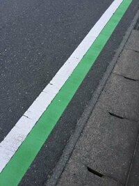白線の内側に緑のラインこれはどういう意味ですか?