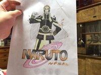 中学生です! このイラストを評価、アドバイス下さい! 描いたキャラクターはNARUTOでナルトです! 見にくい画像ですいません