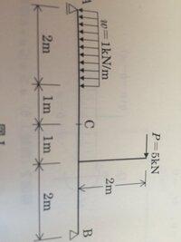 この問題がどうしてもわかりません。  図のような逆t型梁の点Cに作用する曲げモーメントを求めよ。という問題です。 どう求めれば良いですか?