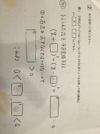 方程式が円を表すような定数の範囲についての問題なのですが、空欄の四角にはいる数字を教えてください。