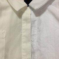 白いシャツを紅茶染めをされたことがある方! 紅茶染めに初挑戦しようと思っています。ただ、茶色く染めたいというわけでなく、青みのあるホワイト(画像右半分)を若干オフホワイト(画像左半分) 気味にしたいだけ...