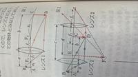 高校物理で組み合わせレンズで質問聞いて下さい。レンズ2を通しても実像ができると思ったのですが、レンズ2の前に大きな虚像ができているのはどうしてですか?