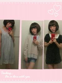 男子高校生です。女装したんですけどどうでしょうか?良いとことか改善点を教えて欲しいです! 女子校生とか可愛い女の子っぽくなってみたいです。
