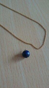 ネックレスの修復について(画像有り)  金具が外れてしまった一粒石のネックレスを自分で元に戻したいです。  数年前にハンドメイド?で購入し、その後何かの部品が外れてしまい保管していま した。 金具は壊...
