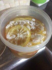 レモンのはちみつ漬けを冬に作り置きして夏に食べようと冷蔵庫に寝かせておきました 。 今日、さあ食べよう浸かってるかな?と蓋を開けたらカビていました。 レモンのはちみつ漬けって梅干しみたいな保存食にもなるんじゃなかったでしたっけ?