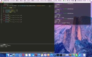 Sublime Text 3,value y&quot,value x&quot,mac OS sierra環境,python3.5.2,input,value x