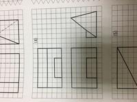 次の画像の立体図の作図時の順番の解説をお願いします。   cad 立体図