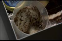 ストーリーネタバレ質問!映画「ハンニバル」で脳の一部を焼いて食べさせたり飛行機内で弁当に脳の残りを持ってきてるレクター博士ですが 「脳の肉」の素材には何を使ってるんでしょうか!? すごくリアルに感じ...