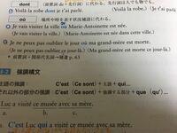フランス語です! この青丸がついている3文の日本語訳教えてください! 急ぎです!