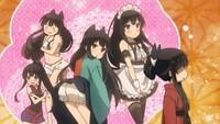 アニメ「うらら迷路帖」第5話。  あなたは、どの紺ちゃんが一番お好みですか?