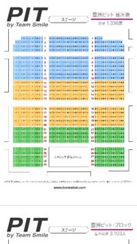 豊洲PITの座席について 豊洲PITで行われるライブに行きます。全席指定のようですが、座席表を見ると15列と16列の間が通路のように空いているのですが、実際も間は空いているのでしょうか?  今、9列目と16列目のチケットを持っているのですが、もし15列と16列との間が空いているのであれば、16列目は前の人がすぐ目の前にいないので、平面ですぐ目の前に人がいる9列目より視界も良いのではないか?と...