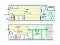 ダイニングキッチン9帖のレイアウトについて 近々引越し予定なのですが、ダイニングキッチンのレイアウトが決まらず困っています。  •キッチン横に冷蔵庫、その横にレンジ台。冷蔵庫の向かい側(階段の壁側)に調理台を配置しようと考えております。  あと、コタツ(ローテーブル)とソファ・テレビ台を配置したいのですが、部屋が広く見えるレイアウトはないでしょうか? キッチン周辺のレイアウトも、もっと使いや...