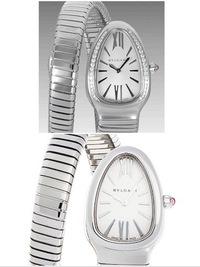 ブルガリのセルペンティの購入を検討しています。  毎日使える良い時計をしたいと思いつつ、時計の金具やデザインがどうにも嫌いで、いつしか時計をつけなくなりました。 ですが、夫の時計選 びに付き合った時...