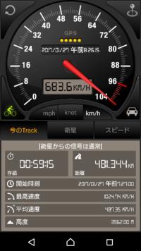 飛行機の中で、スピードメーターを使い、飛行機の速さを測定してみました。 なぜ、中途半端なのでしょうねぇ? 新幹線なら、250とか300とか、ぴったりの数字なのに。  時速683.6キロ。 きっかり、時速700とか680で飛ぶのは難しいのですか?