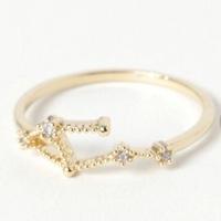 この指輪は星座をモチーフにしているらしいのですが、 なんの星座かわかりませんか?