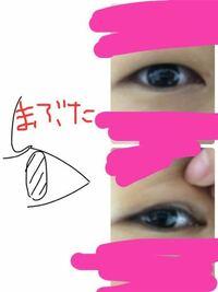 奥二重で悩んでいます。【写真注意】 私の瞼は、めちゃくちゃ奥二重でフツーの状態だと、一重にしか見えないです(右上) 瞼を上に引っ張ると奥二重の線が出てくる感じです(右下) 絵が凄く汚くて見にくいんですが、...