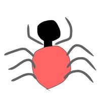 珍しい蜘蛛に詳しい方、これは何という蜘蛛なのか教えてください。  場所は北海道の住宅街です。(地下鉄の駅が近くにあります) 画像のような蜘蛛を徒歩で通勤途中に見かけました。 絵が下 手ですみません。  かなりの大きさです。500円玉を縦に2枚置いたような体長で、頭部分?は黒、お尻部分?は薄い赤、足は黒っぽいようなグレーっぽいような太い脚でした。 蜘蛛の巣はなく、アスファルトの地...